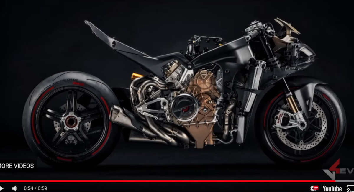 The entire bike is shown in the video, without clothes.