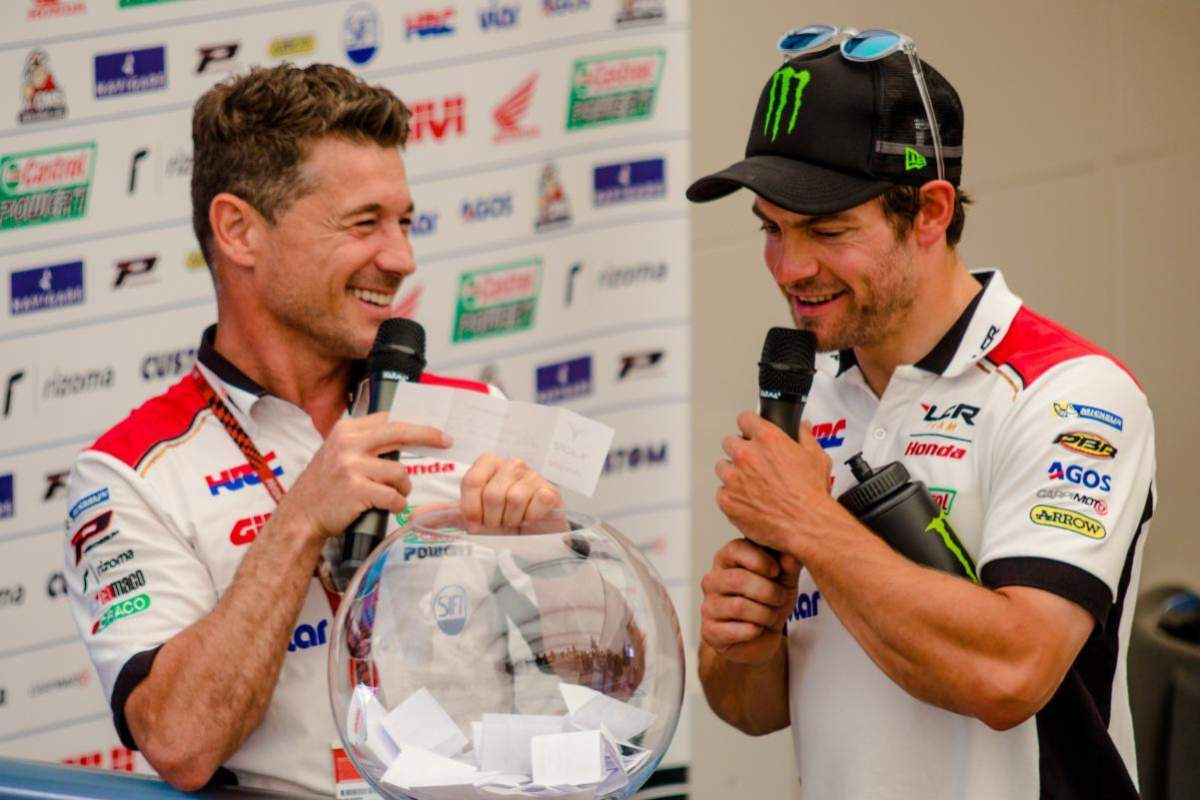 Cecchinello (left) is a huge supporter of Crutchlow