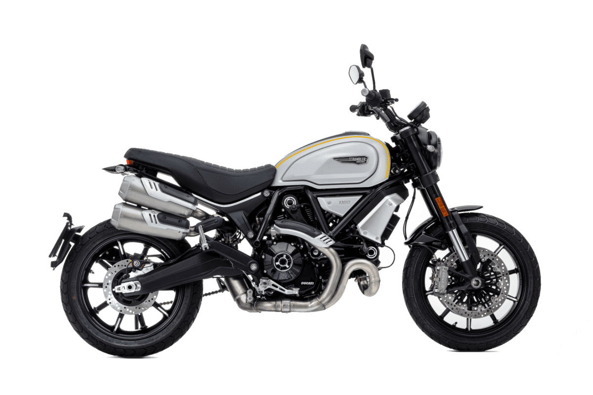 This is the Scrambler 1100 Pro motorcycle from Ducati.