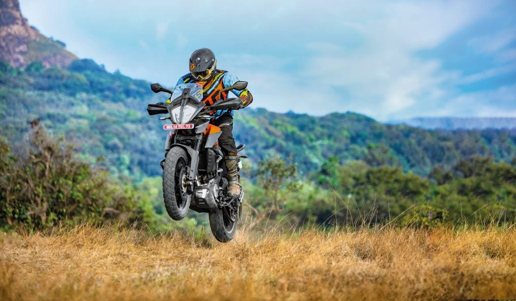 This thing hustles. It's a motorcycle from KTM that's good off-road and amazing on-road. Best small KTM yet? Possibly, yes.