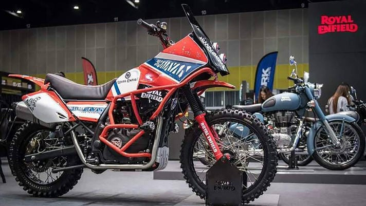 This is the Dakar-styled RE prototype that was shown at Eicma in Milan. If the new 650 or 250 versions of the enduro motorcycles look like this, they'll be hot stuff.