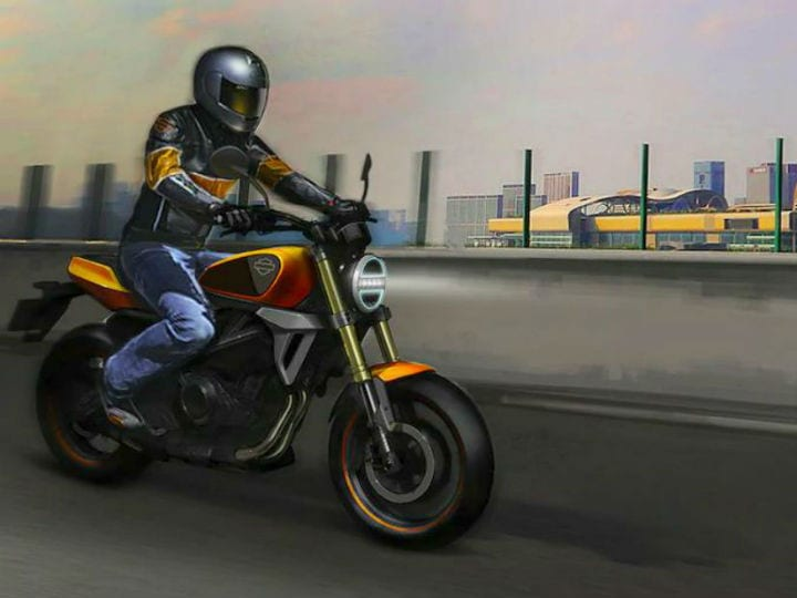 This is what Harley-Davidson showed as an 'idea' of what the small capacity motorcycle  could look like when it appears. And now we all know that it will be appearing later this year.