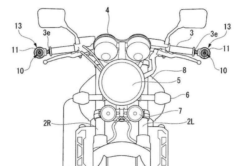 Honda and Kawasaki's PATENTS for cameras and sensors on its motorcycles
