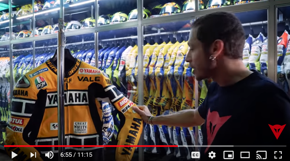 Valentino Rossi picks out some of his favourite riding kit from his racing career in episode three of his video series, which you can watch below.