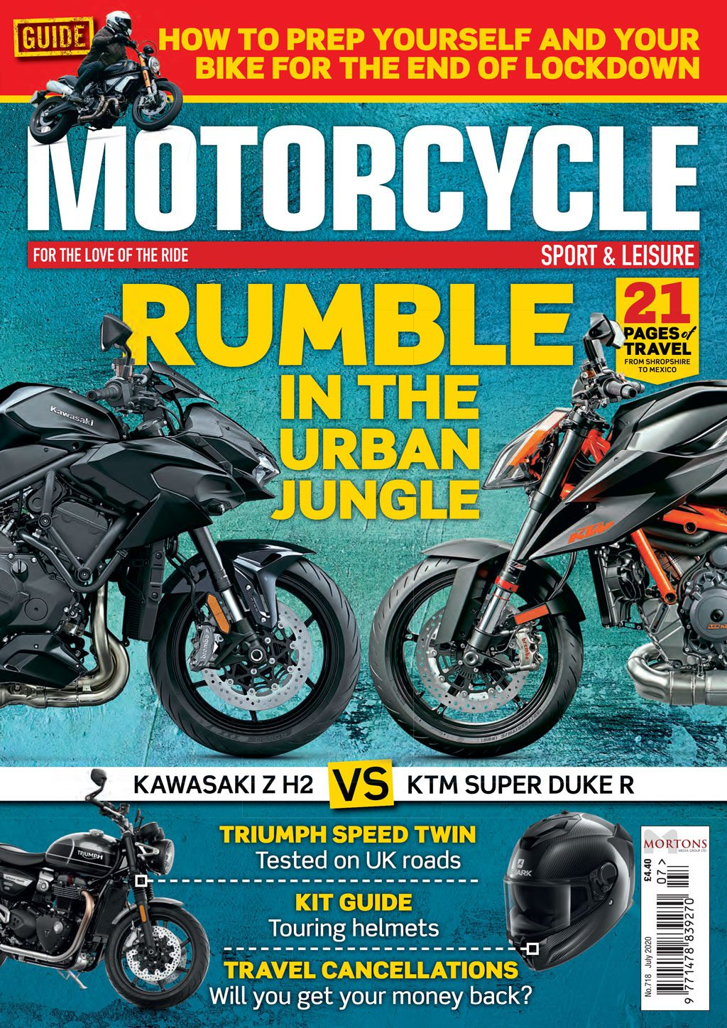 July edition of Motorcycle Sport & Leisure magazine