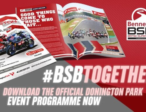 BSB: Get a FREE official programme for this weekend's round at Donington Park. Download it NOW.