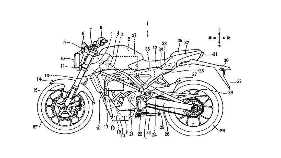 Honda files PATENTS for electric CB125R