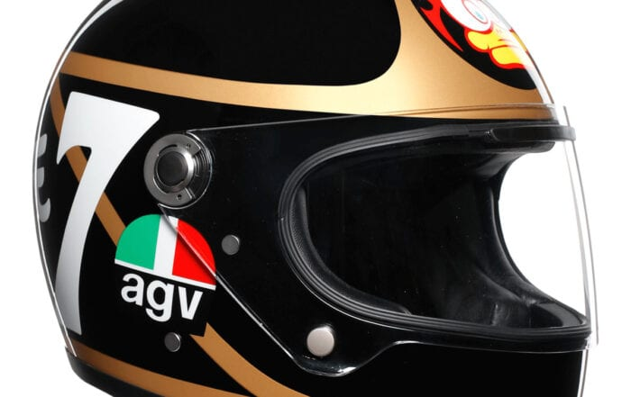 Barry Sheene AGV helmet