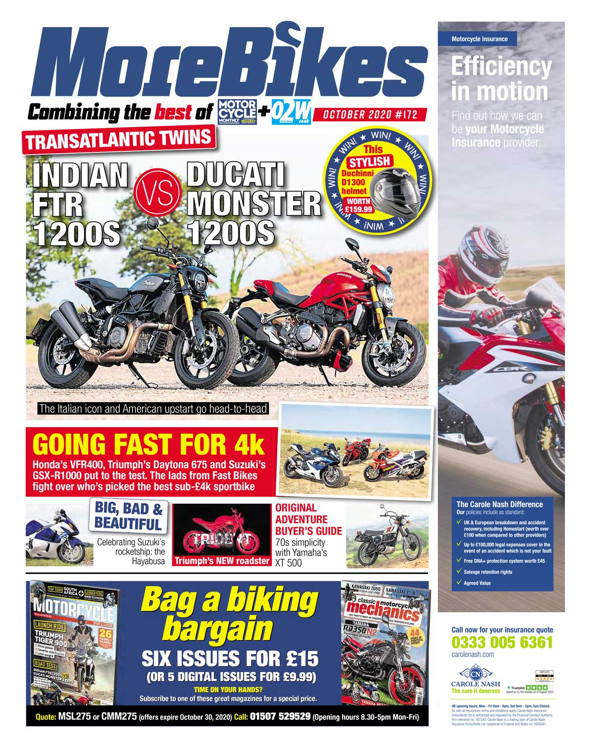 MoreBikes October cover