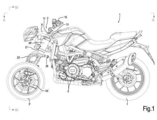 Aprilia's working on a new THREE-WHEELER. Challenger for Yamaha's funky Niken.