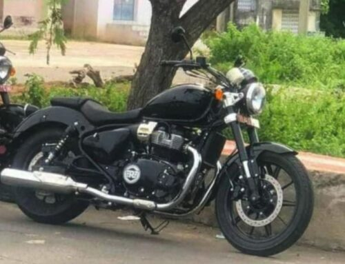 GOTCHA! Spy shot of Royal Enfield's 650cc bobber out testing