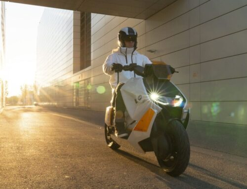 BMW's prototype ELECTRIC scooter; the Definition CE 04. Factory confirms it'll go into production soon.