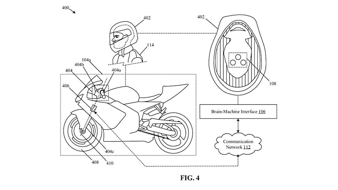 PATENT: Honda's filed designs for a SMART motorcycle that reads your mind